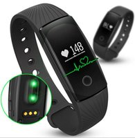 Wholesale Fitbit ID107 smart wrist bands with Heart Rate Fitness Activity Tracker Bluetooth Smartband fitbit Sport Bracelet for IOS Android phone