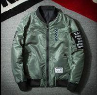 Wholesale Two Side Clothing - Two side Jacket MA1-Pilot Jacket men Women fashion Baseball Embroidery HIP HOP Kanye West jacket brand clothing