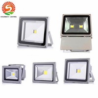 Wholesale Outdoor Dc Flood Light - DC 12V led floodlight waterproof 10W 20W 30W 50W 70W 100W LED projector outdoor spot lighting wall flood light lamp Landscape