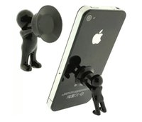 Wholesale Mini Plunger Phone - Silicone Mini Hercules Villain 3D Man Mobile Cell Phone Holder Stand Supporter for Smartphone Plunger Sucker iPhone Samsung HTC Lenovo