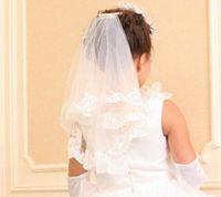 Wholesale honey bridal - #V001 New Twig&Honeys Imitation Tulle Bridal Veil in Stock Vintage Custom Size Wedding Accessories Flower Girl Veil