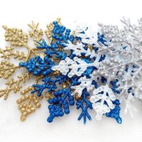 Wholesale Wholesaler Customized Christmas Ornaments - Christmas decorations, 10CM plastic snowflakes, Christmas trees, decorations, Christmas supplies, pendants, manufacturers customized wholesa