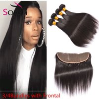 Wholesale Wholesale Bella Dream Hair - Indian Human Hair With Closure Body Wave Ear To Ear Lace Frontal With 3 Bundles Lace Front Closure With Bundles Bella Dream Hair