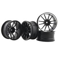 Wholesale Hpi Drift Wheels - RC Aluminum Wheel 4pc D:52mm W:26mm Fit HSP HPI 1:10 On-Road Drift Car Rim 123HS
