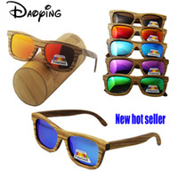 10pcs wholesale new grade promotion wood sunglasses real bamboo wood sunglases men women polarized driving excelllent glasse free shipping in bulk