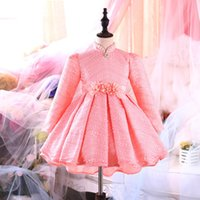 Wholesale Evening Dress Cinderella Style - Girls prom dress Cinderella girl's Lace Party dresses New Big girl evening dress children Flower Pearl Bow butterfly kids clothing A7535