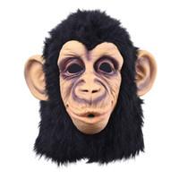 kostümler goriller toptan satış-Toptan-Maymunlar Planet of Yükselişi Cadılar Bayramı cosplay gorilla masquerade maske Maymun Kral Kostümleri caps gerçekçi FestivaliParty maskeleri