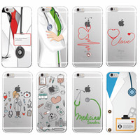 Wholesale Nursing Health - Nurse Medical Medicine Health Heart Soft TPU Phone Case Cover for iPhone 7 7Plus 6 6S 6Plus 5 5S iphone 8 8Plus X
