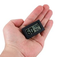 Wholesale Digital Thermometers For Cars - Super Moisture Meters Wireless Mini LCD Display Thermometer Electronic Temperature Digital Hygrometer for Cars Incubators and Brooders Climb