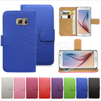 Wholesale Wholesale Leather Packaging - Wallet Case For Galaxy S7 Iphone 7 Case Wallet PU Leather Case Cover Pouch With Card Slot Photo Frame For LG LS 770 Cases Opp Package