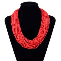 Vente en gros - Bijoux Fashion Jewelry Bohemia Seed Bead Layer Collier Collier Femme Bead