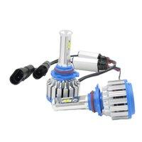 led-scheinwerfer umbausatz h4 großhandel-T1 LED Autoscheinwerferlampen H4 H1 H7 H3 HB3 / 9005 HB4 / 9006 880 12V Superhelles Halogen-Ersatz-Auto-Beleuchtungs-Umbausatz