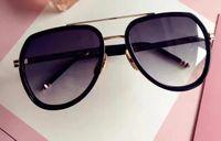 Wholesale len cases - Designer Men Black Gold Gray Gradient Len Sunglasses TB 128 Unisex Brand New With Case
