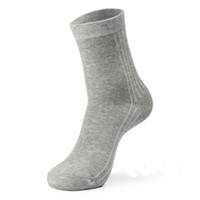 Wholesale Wholesale Boutique Socks - 4pairs lot brand silver ion antibiosis 100% cotton sock men odor free socks solid boutique dress calcetines hombre white black