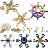 Wholesale Desk Science - Colorful Fidget spinner Rainbow Hand Brass Ceramic Hybrid Bearing EDC Desk Toy Game for Autism and ADHD Focus Anxiety Relief Stress Toys 30