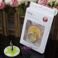 Wholesale Free Ring Patterns - RETAIL PACKAGE:New Design Phone Ring Summer Fruit Pattern Stand Holder For iPhone 7 Note7 With Free Shipping