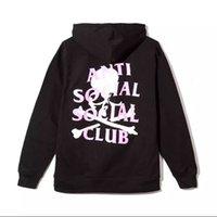Wholesale Skeleton Tracksuit - Wholesale- anti social social club hoodie men kanye west pablo yeezus sweatshirt fleece ASSC tracksuits Skull Mastermind Skeleton hoodies