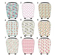 Wholesale Baby Car Covers - Baby Floral Car Seat Canopy Nursing Cover Blowout Breastfeeding Nursing Scarf Apron Shoping Cart Stroller Sleep By Free DHL MPB11