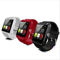 dijital bluetooth akıllı saat toptan satış-Akıllı Bluetooth İzle Kol spor dijital Android Samsung telefon için U8 u saatler / Not yüksek kalite Giyilebilir Cihaz