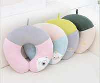 Wholesale Plush Toys Manufacturers - 2017 new fashion comfortable soft U pillow fight color healthy sleep ring protection neck pillow plush toys U-pillow manufacturers wholesale