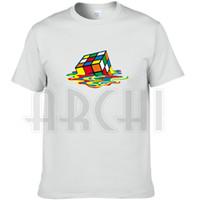 Wholesale Tshirt Big Bang Theory - The Big Bang Theory T shirt Rubik cube short sleeve Magic square tees Teleplay cool clothing Unisex cotton Tshirt