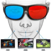 Atacado- Universal Type 3D Glasses TV Movie Dimensional Anaglyph Video Frame 3D Vision Óculos DVD Game Glass Red and Blue Color Mais novo
