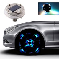 Wholesale Car Rims Wholesale - 4 Modes 12 LED Car Auto Solar Energy Flash Wheel Tire Rim Light Lamp Tire Light Lamp Decoration