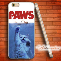 Wholesale Cat Iphone 4s Cases - Fundas Luxury Paws Cat Soft Clear TPU Case for iPhone 6 6S 7 Plus 5S SE 5 5C 4S 4 Case Silicone Cover.