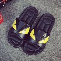 Shower Room black shoes small heel - mens flip flops Shoes floor indoor lovers small monsters slippers bathroom with thick soles