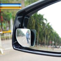 espejo de coche ciego vidrio de punto lado gran angular auto vista posterior adjustabe para estacionar el sector universal sin marco