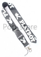 Wholesale cell phone neck lanyard resale online - Some design about PLAYBOY Lanyard cell phone neck strap key chain neck strap black