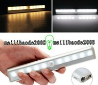 Wholesale Pir Motion Activated - NEW LED Human Motion Activated PIR Light Sensor Bathroom Toilet Lamp LED Night Light motion activated light motion AAA Battery Operated LED