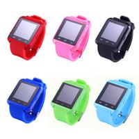 bilek izlemek bluetooth cep telefonları toptan satış-7 renkler smart watch u8 bluetooth altimetre anti-kayıp 1.5 inç bilek İzle u izle akıllı telefonlar için iphone android samsung sony cep telefonları