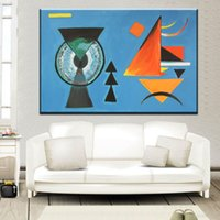 Wholesale Paintings Kandinsky - ZZ2094 Geometry Design Wassily Kandinsky Art Canvas Print Painting Poster, Wall Pictures For Living Room, Home Geometric Decor