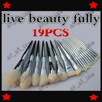Wholesale Brush Outlet - 10PCS factory outlet 2017 latest live beauty fully 19 make-up brush sets, make-up beauty tools, powder brush Free delivery