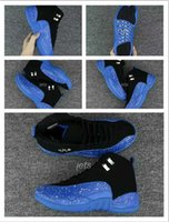 Wholesale Spotted Cotton Fabric - Wholesale New Arrival 2017 New Air Retro 12 XII Men Basketball Shoes Blue Black spot Retros 12s Sneakers Mens Trainers Sport Shoes