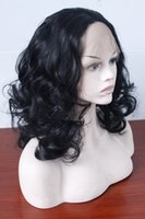 Wholesale Short Pink Wavy Wig - short wavy synthetic lace front wig for black women