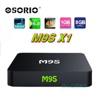 M9S Android Cajas Amlogic S905X RAM 1 GB ROM 8 GB Inicio Streaming de la solución Android 6.0 KD Player 16.1 HDMI 2.0 4K Wifi Mini PC OTT TV Box