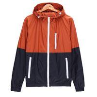 Wholesale Casual Hooded Jacket For Men - HOT Men Jacket Autumn Winter Windbreaker Jacket For Men Slim Lightweight Casual Mens Casual Coat ZL3470