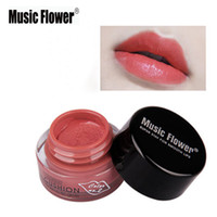 Wholesale Air Brush Colors - Wholesale- 10 colors Music Flower delicate sexy charming air cushion matte lipstick long lasting waterproof lip gloss with lip brush