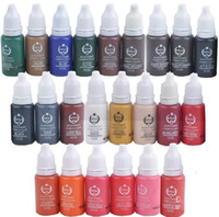 fournitures d'encre de tatouage achat en gros de-1 lot de 30 bouteilles * 15 ml de couleurs permanentes d'encre de maquillage assorties de tatouage de microblading de Biotouch de maquillage de pigment de kits de cosmétique de maquillage