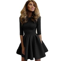 Wholesale Club Fashion Mini - 2017 Autumn Women's Fashion Slim Bodycon Bandage Club Party Dresses A-line Vintage Dress Long Sleeve Casual Dress Vestidos