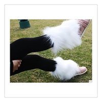 Wholesale Shoe Cuffs - 2016 Fashion Women Warmers Leg Boot Cuff Soft Faux Furry Boot Cuff Leg Warmers Boot Toppers 20CM For Women Leg Shoes Free Shipping