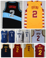 Wholesale Cheap Red Christmas - Cheap Men's #2 Kyrie Irving Jersey 2017 Christmas Xmas Edition College Basketball Jerseys Uniform Red Blue White Yellow Black Stitched
