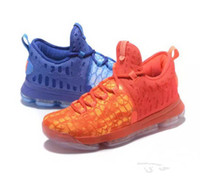 Wholesale Kd Boots - KD 9 What The Color Elite Mens Fire & ICE Kevin durant KD Basketball Sneakers 2017 New Designer kd9 Colorful Sports Shoes