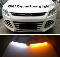 Wholesale car relays signal - Turn Signal Light and turn off Relay 12V GUIDE LED CAR DRL Daytime Running light accessories for FORD Kuga Escape 2013 2014 2015