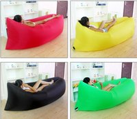 Wholesale lazy air sofa portable outdoor inflatable sofa bed folding beach slug sleeping bag