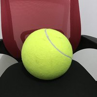 Wholesale Dog Activity Ball - 9.5 Inch   24cm Inflatable Jumbo Tennis Ball For Activity Play Signature Signal - Larger Pets Dogs Children Toys Outdoor Sports Play