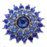 Wholesale Cheap Bead Sliders - cheap purple noosa chunks 18mm crystal rhinestones elegant snap buttons diy jewelry