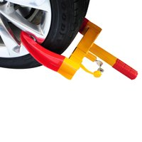 переключатель выключения оптовых-Высокое качество колеса автомобиля зажим сверхмощный автомобиль противоугонные безопасности замок Ж / 3 ключи бесплатная ускоренная доставка